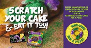 Louisiana Lottery Partners With Kenner-Based Cartozzo's Bakery To Offer King Cakes For A Year Second-Chance Prizes