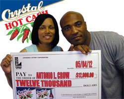 fort polk couple claims crystal hot cash top prize