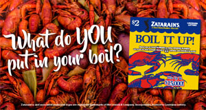 The Lottery Celebrates Crawfish Season With Launch Of Zatarain's™ Scratch-Off Game