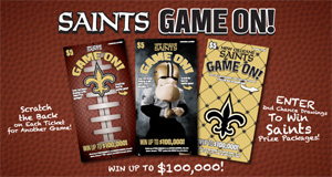 Louisiana Lottery Reminds Players Of Next Saints Game On! Second-Chance Drawing Entry Deadline