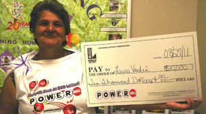dulac woman claims $10,000 powerball prize