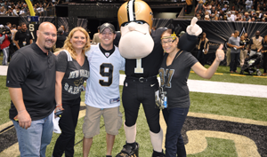 Saints Fever! Second-Chance Winner Gets On The Field