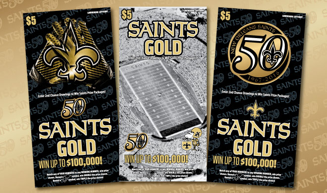 Louisiana Lottery Announces Winners From Second Saints Gold Scratch-Off Second-Chance Drawing And Deadline For Third Drawing
