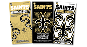 2014 saints scratch-off offers $100,000 top prize plus new game-day experience second-chance prizes