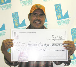 kinder man claims $11,000 top prize from scratch-off