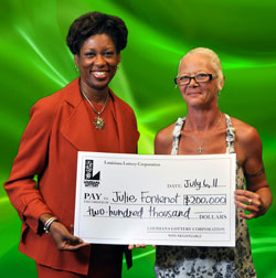 eunice woman claims $200,000 powerball prize