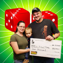 scratch-off winner in the giving spirit of the holidays