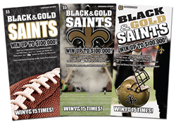black & gold make green for louisiana lottery