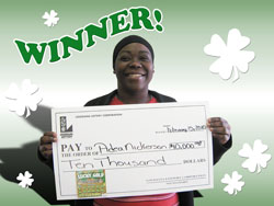youngsville woman continues lucky streak with lucky gold win