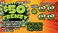 $50 Frenzy front
