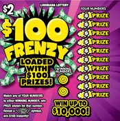 $100 Frenzy front