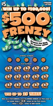 $500 Frenzy front