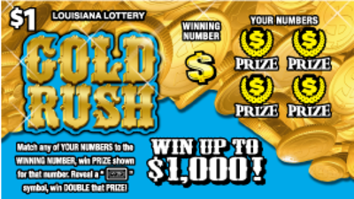 Gold rush game 1072 louisiana lottery gold rush front sciox Image collections