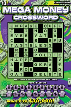 Mega Money Crossword image