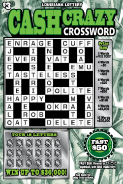 Cash Crazy Crossword image