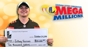 Jeff Vaccaro won 10,000 playing Mega Millions