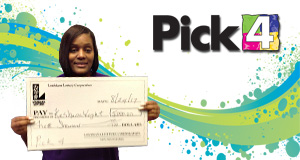 Keshana Wright won 5,000 playing Pick 4