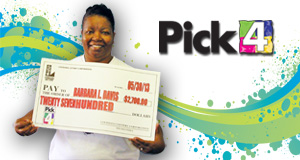Barbara Davis 's Pick 4 winner photo
