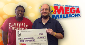 Benjamin Hall's Mega Millions winner photo
