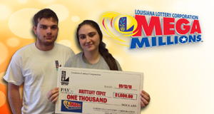 Brittany Cupit won 1,000 playing Mega Millions