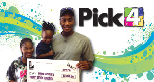 Demond Mayfield Sr. won 2,700 playing Pick 4