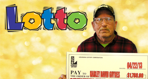Harley Guynes 's Lotto winner photo