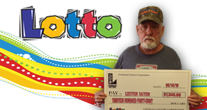 Lester Sayer won 1,348 playing Lotto