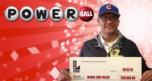 Michael Collins won 50,000 playing Powerball