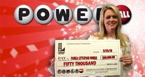 Pamela Moreau's Powerball winner photo