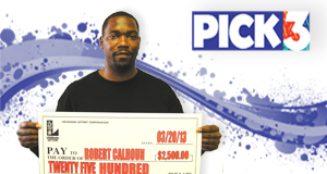 Robert Lee Calhoun's Pick 3 winner photo