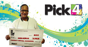 Sandra McMillon won 2,700 playing Pick 4