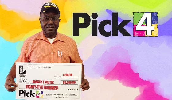 Booker Walter won 8,500 playing Pick 4