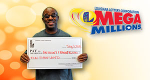 Anthony Francis's Mega Millions winner photo