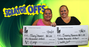 Beverly Navarre won 12,000 playing Double Luck