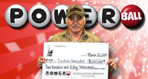 Castulo Gonzalez's Powerball winner photo