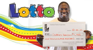 Charles Johnson's Lotto winner photo