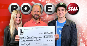 Craig Tiggleman won 50,000 playing Powerball