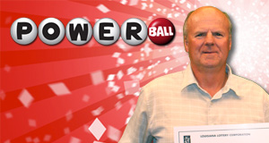David Hebert's Powerball winner photo