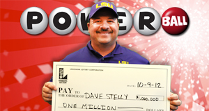 David Stelly's Powerball winner photo