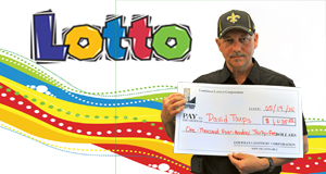 David Toups's Lotto winner photo
