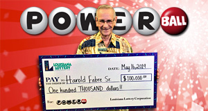 Harold Fabre Sr. won 100,236 playing Powerball