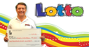 Howell Chiasson's Lotto winner photo