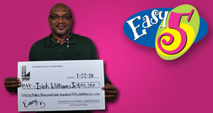 Isiah Williams Jr. won 93,157 playing Easy 5