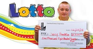 Jerry Franklin's Lotto winner photo
