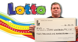John Woodburn's Lotto winner photo