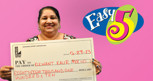 Kulwant Kaur's Easy 5 winner photo
