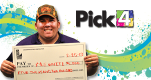 Kyle White's Pick 4 winner photo