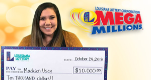 Madison Usey won 10,000 playing Mega Millions