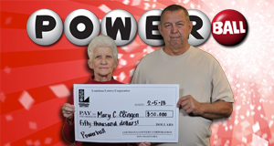 Mary Clingon won 50,000 playing Powerball