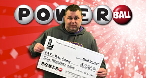 Mike Conerly's Powerball winner photo